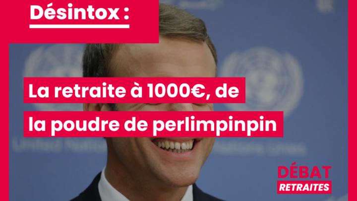 La retraite à 1000€ : de la poudre de perlimpinpin