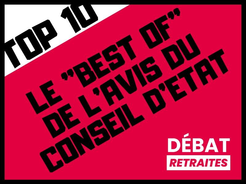 "Top 10 I Le ""best of"" de l'avis du Conseil d'Etat"